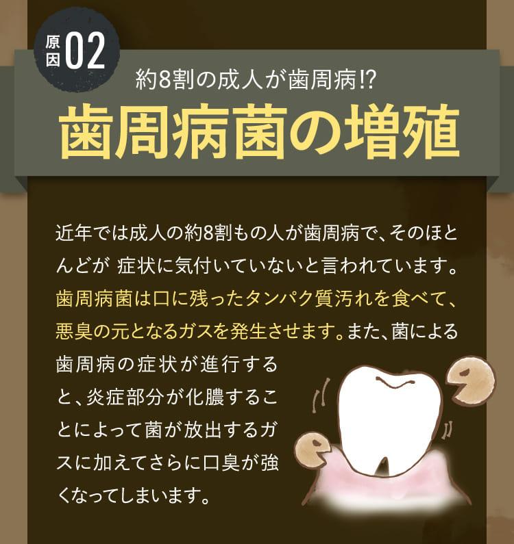 原因02 歯周病菌の増殖