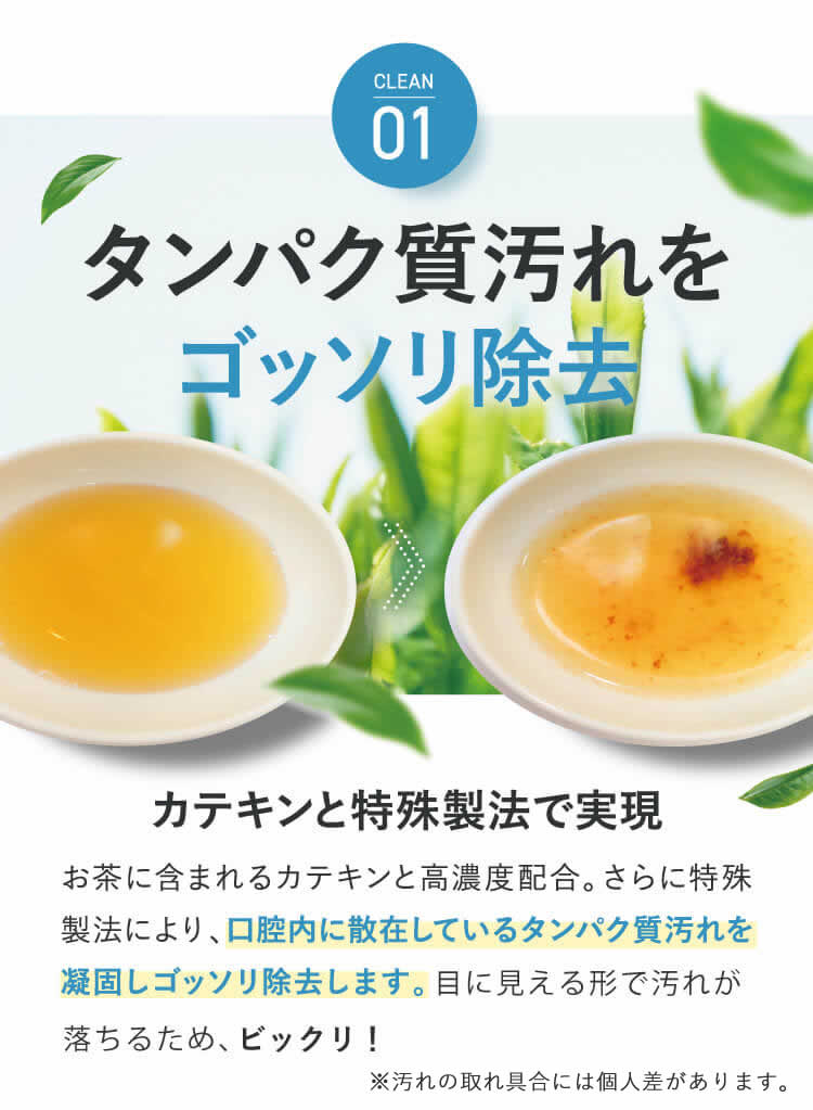 CLEAN01 タンパク質汚れをゴッソリ除去