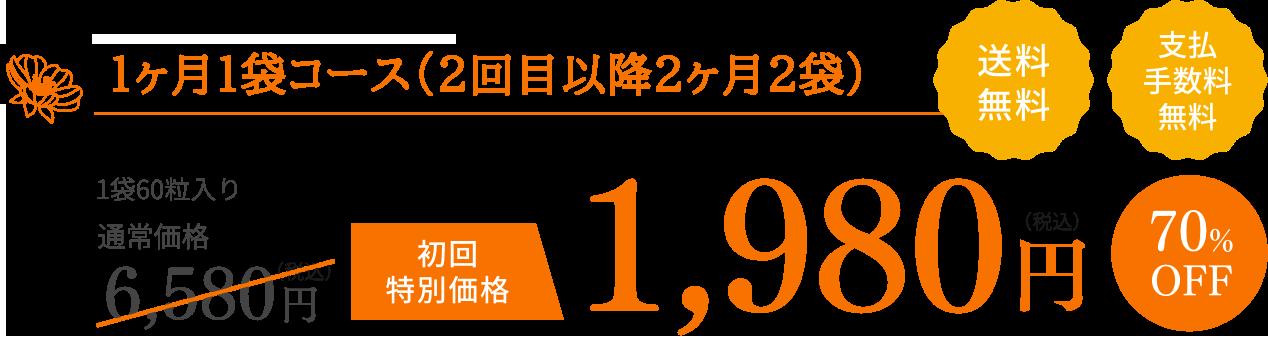 毎月お届けコース 1,980円